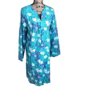 Lilly Pulitzer Floral Dress Caftan Coverup  XL